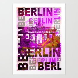 Berlin pop art typography illustration Art Print