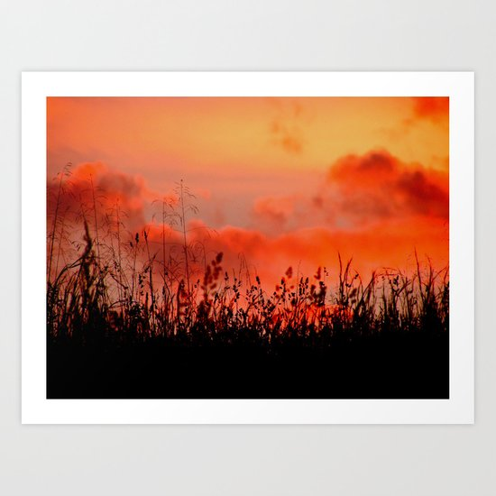Rainbow Sundown Art Print
