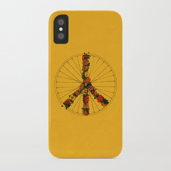 Peace & Bike (Colors) iPhone Case