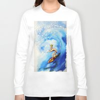 surfer Long Sleeve T-shirts featuring Surfer by Jose Luis Ocana