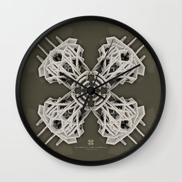 Calaabachti Arch Rosetta [synthetic version] Wall Clock