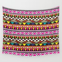 aztec Wall Tapestries featuring AZTEC by Acus