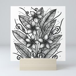 Square Wall Art Plumeria Mini Art Print