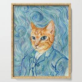Kitten van Gogh Serving Tray