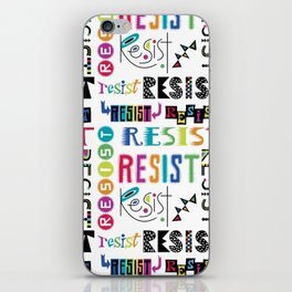 Resist them 3 iPhone Skin