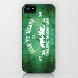 Vigilante Training camp iPhone Case
