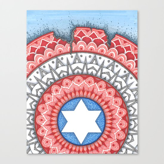 Captain (Star of David) America Canvas Print