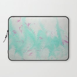 Light Blue Thistle Water Marbling Laptop Sleeve