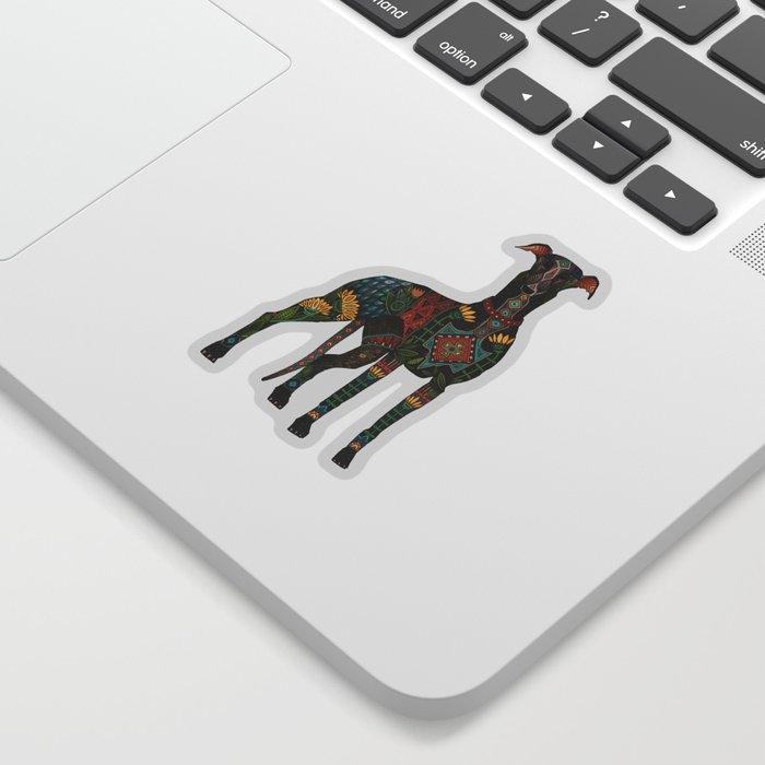 greyhound orange Sticker