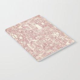 vintage halloween claret ivory Notebook