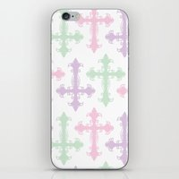 goth iPhone & iPod Skins featuring Pastel Goth by Glitterati Grunge