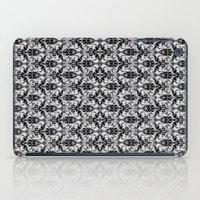 damask iPad Cases featuring Black Damask  by Elena Indolfi