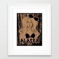 rupaul Framed Art Prints featuring Alaska by Payden Evans