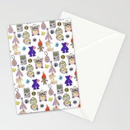90s toy nostalgia pattern Stationery Cards