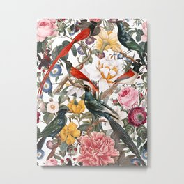 Floral and Birds XXXV Metal Print