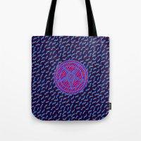 baphomet Tote Bags featuring BAPHOMET II by DIVIDUS