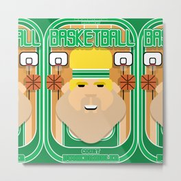 Basketball Green - Court Dunkdribbler - Sven version Metal Print