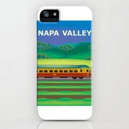 Napa Valley, California - Skyline Illustration by Loose Petals iPhone Case