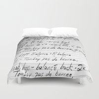 ballet Duvet Covers featuring BALLET by The Family Art Project