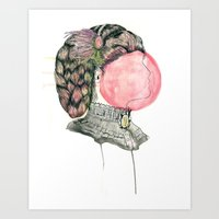 victorian Art Prints featuring Victorian by M3AT