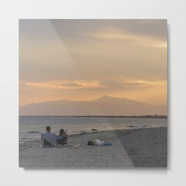 Sunset Over Mt. Olympus Metal Print