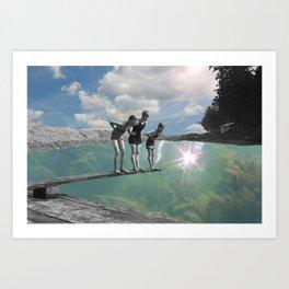 Dive into the Sky Art Print