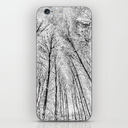 Monochrome Snow Trees iPhone Skin