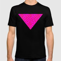 Hot Pink Cheese Doodles /// www.pencilmeinstationery.com MEDIUM Black Mens Fitted Tee