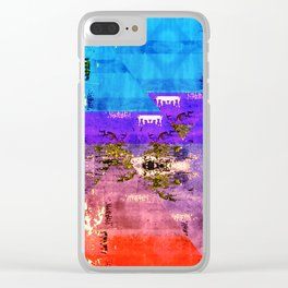 Colorful Southwestern Inspired Pattern Design Clear iPhone Case
