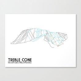 Treble Cone, Wanaka NZ - Minimalist Trail Art Canvas Print