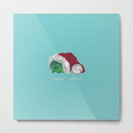Happy Holiday Hedgehog by Chrissy Curtin Metal Print