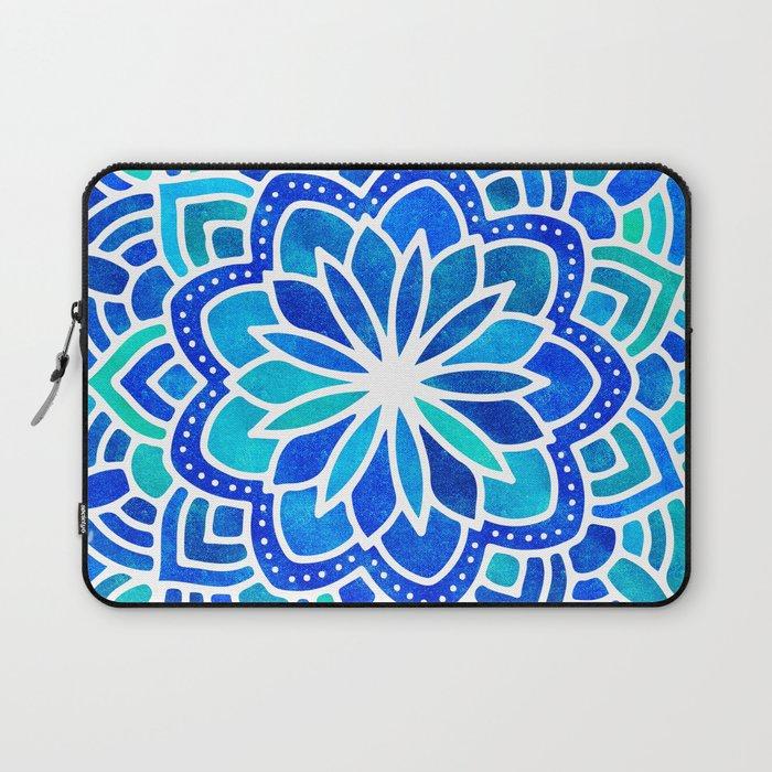 Mandala Iridescent Blue Green Laptop Sleeve
