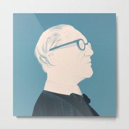 Architect Portraits: Le Corbusier  Metal Print