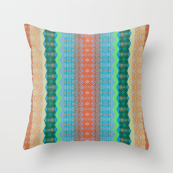 Earth Tone Throw Pillows.Retro Earth Tone Subtle Neon Psychedelic Zag Boho Lines Throw Pillow By Carlieamberpartridge