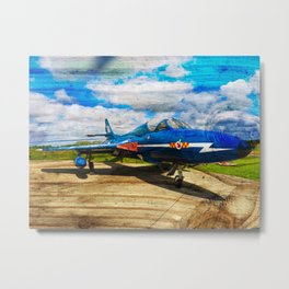 Hawker Hunter T7 aircraft on wood Metal Print