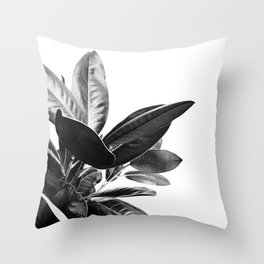 Grandiflora II - bw Throw Pillow