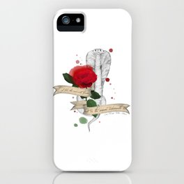 Shakespeare Quote (Flower and Serpent) iPhone Case