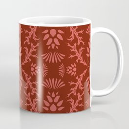 Thistles on Red Coffee Mug
