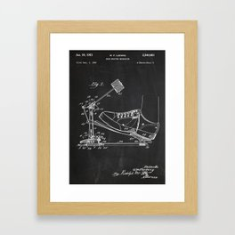Drum Beating Mechanism Patent Framed Art Print