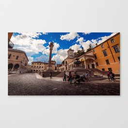 Spring afternoon in the city of Udine Canvas Print