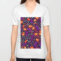 psychadelic V-neck T-shirts featuring Psychadelic Natural Pattern #5 by Andrej Balaz