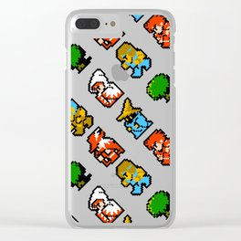 Final Fantasy (NES) pattern Clear iPhone Case
