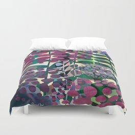 Purple Aliums Duvet Cover