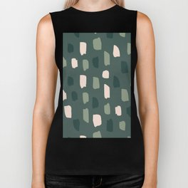 Paintbrush Green Rose Biker Tank