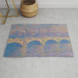 """Claude Monet """"Waterloo bridge"""" Rug"""
