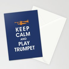 Keep Calm and Play Trumpet Stationery Cards