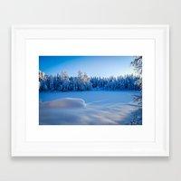 swedish Framed Art Prints featuring Swedish Winter by Mark W