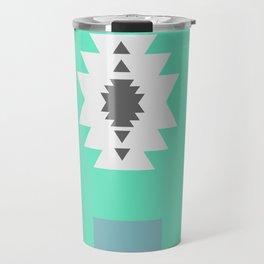 Minimal tribal decor in blue Travel Mug
