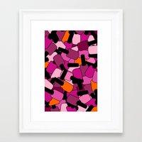 nail polish Framed Art Prints featuring Nail Polish by ts55