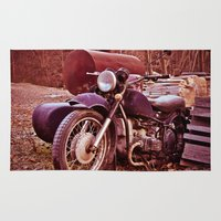 moto Area & Throw Rugs featuring Vintage Moto by Eduard Leasa Photography